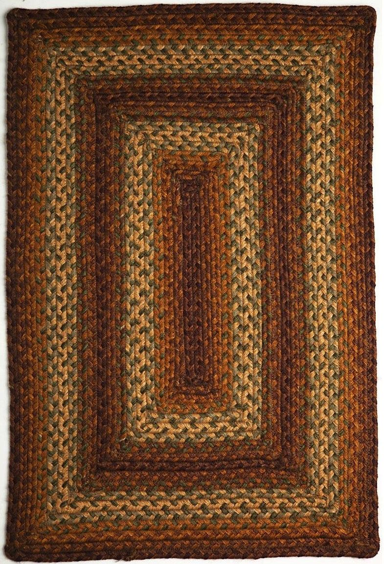 homespice decor tweed braided area rug collection