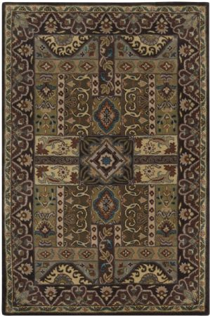 PlushMarket Traditional Cury Area Rug Collection
