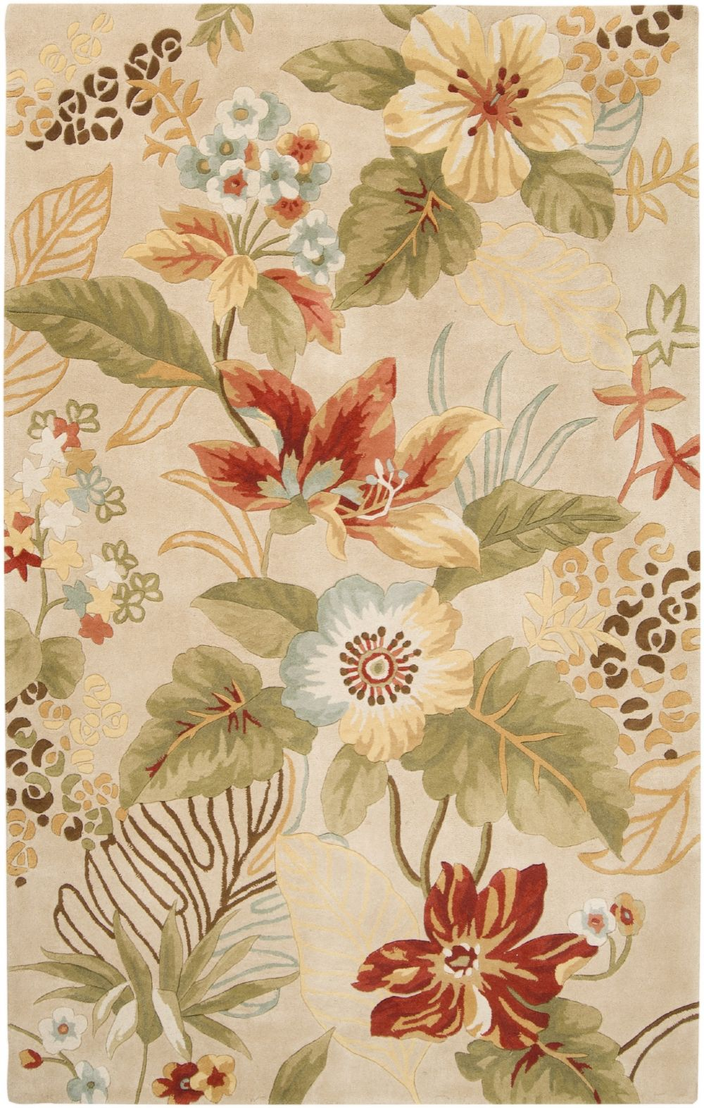 surya canopy country & floral area rug collection
