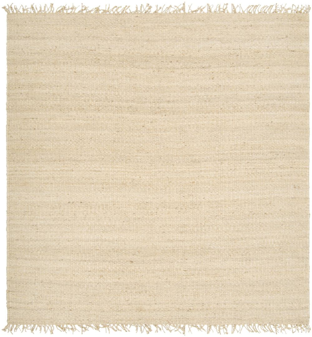 surya jute bleached natural fiber area rug collection