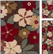Tayse Contemporary Laguna - Set of 3 - 5X7-1.8X5 - 1.8X2.8 Area Rug Collection