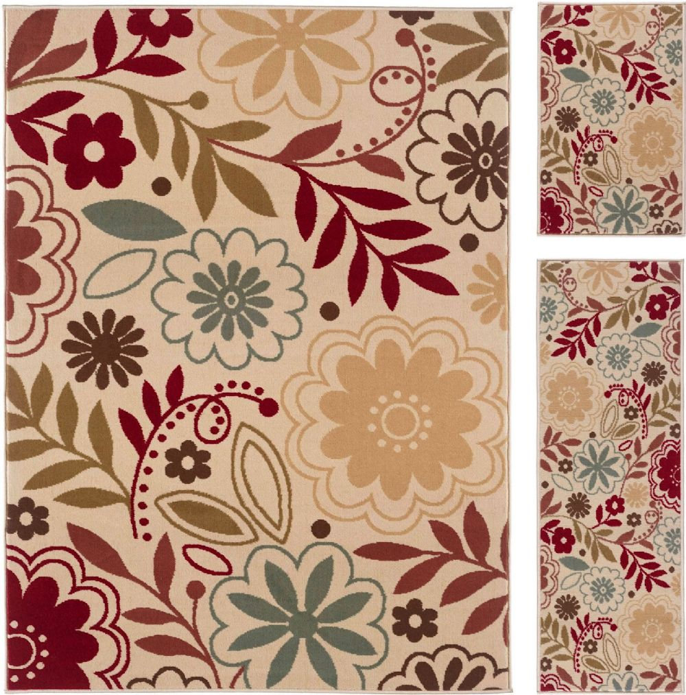 tayse laguna - set of 3 - 5x7-1.8x5 - 1.8x2.8 contemporary area rug collection
