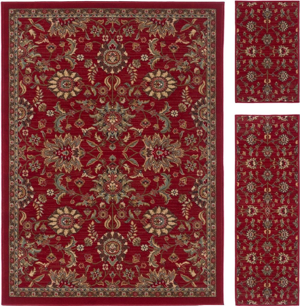 tayse laguna - set of 3 - 5x7-1.8x5 - 1.8x2.8 transitional area rug collection