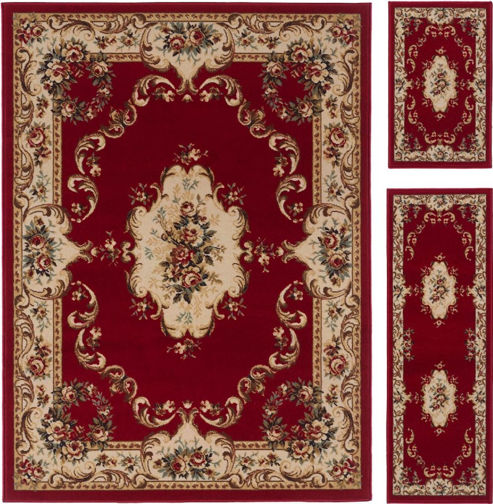 tayse laguna - set of 3 - 5x7-1.8x5 - 1.8x2.8 traditional area rug collection