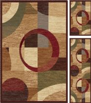 Tayse Contemporary Elegance - Set of 3-5X7 - 1.8X5 - 1.8X2.8 Area Rug Collection