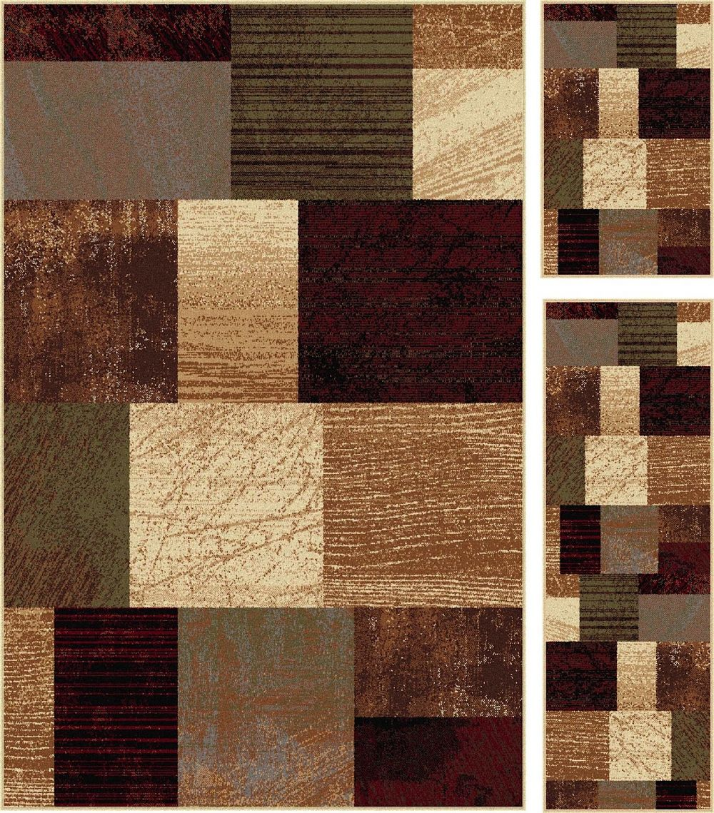 tayse elegance - set of 3-5x7 - 1.8x5 - 1.8x2.8 contemporary area rug collection