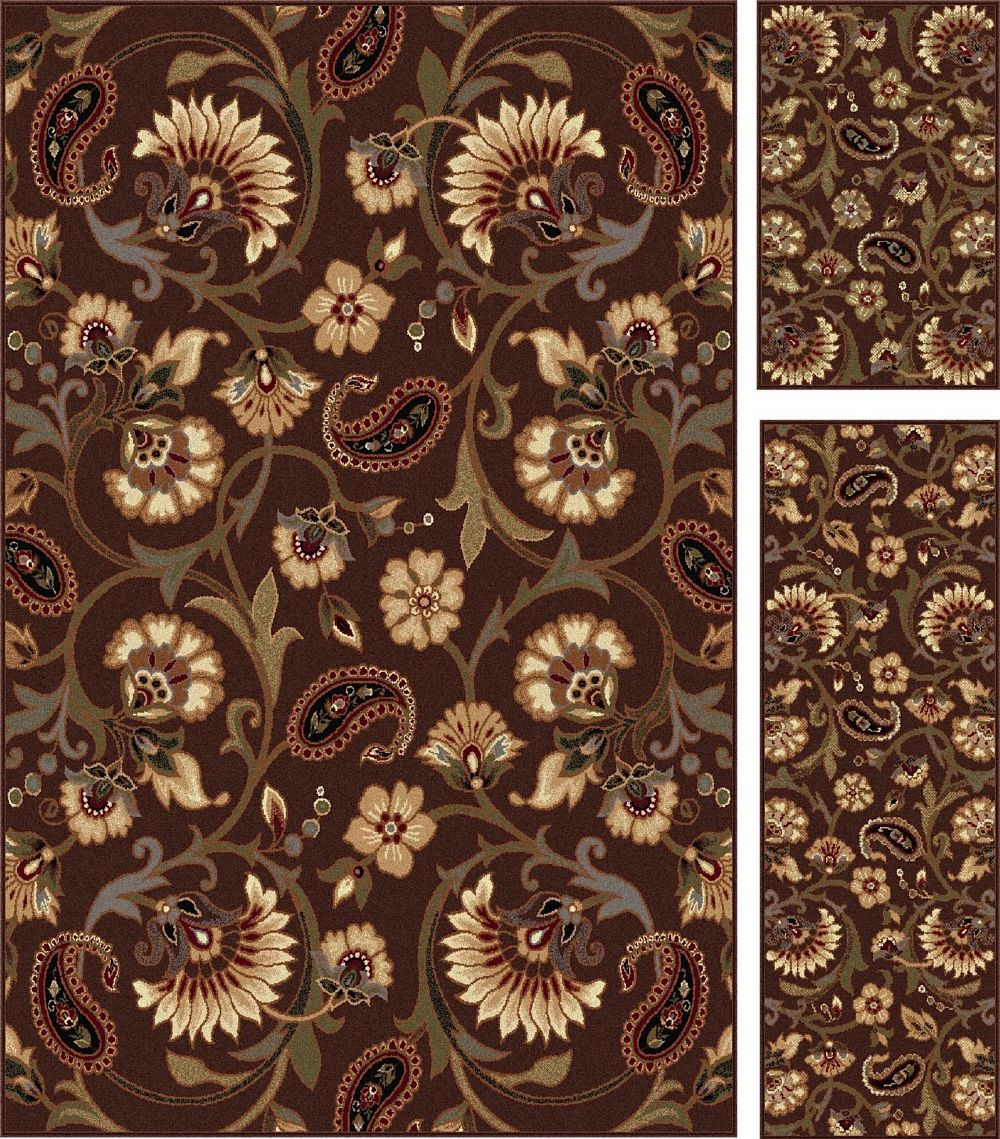 tayse elegance - set of 3-5x7 - 1.8x5 - 1.8x2.8 transitional area rug collection