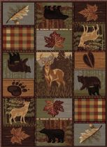 Rectangle Area Rug, Machine Made Rug, Southwestern/Lodge, Nature, Tayse Rug
