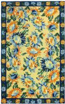 Homefires Contemporary Sunflower Provence Area Rug Collection