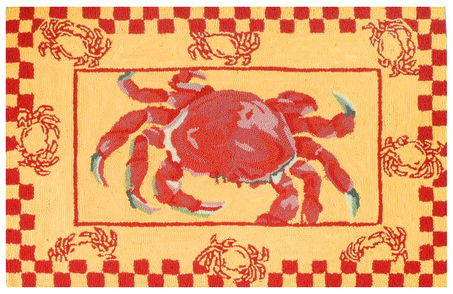 homefires crab boil contemporary area rug collection