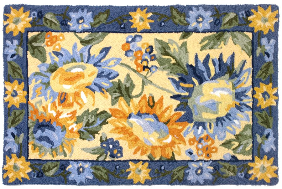 homefires sunflower provence contemporary area rug collection