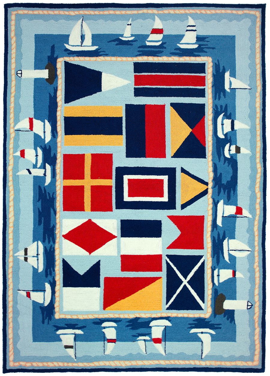 homefires sailing the lakes contemporary area rug collection