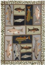 Homefires Contemporary Mountain Trout Area Rug Collection