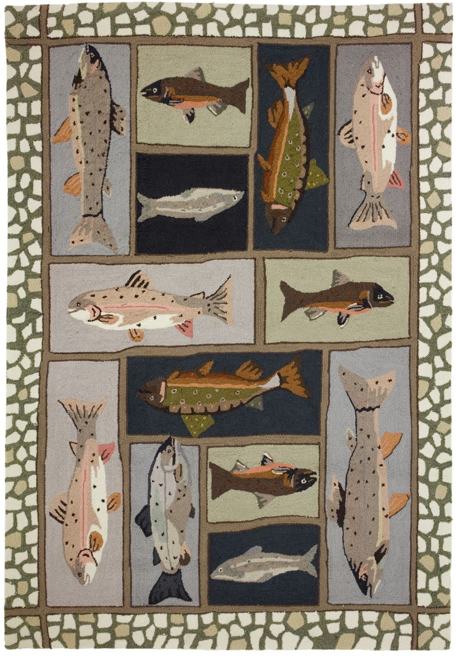 homefires mountain trout contemporary area rug collection
