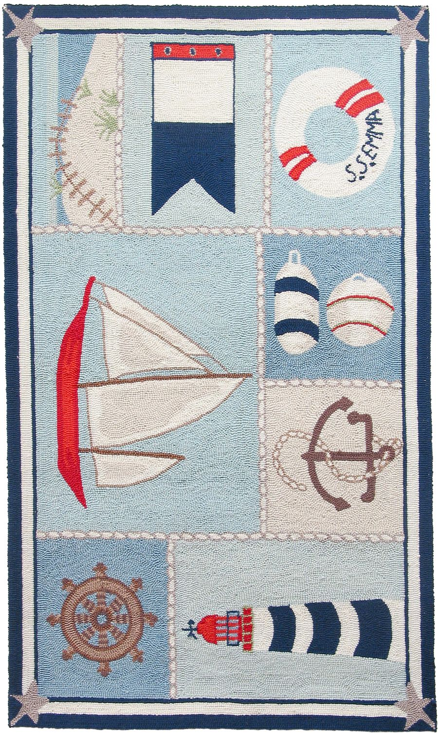 homefires ship shape contemporary area rug collection