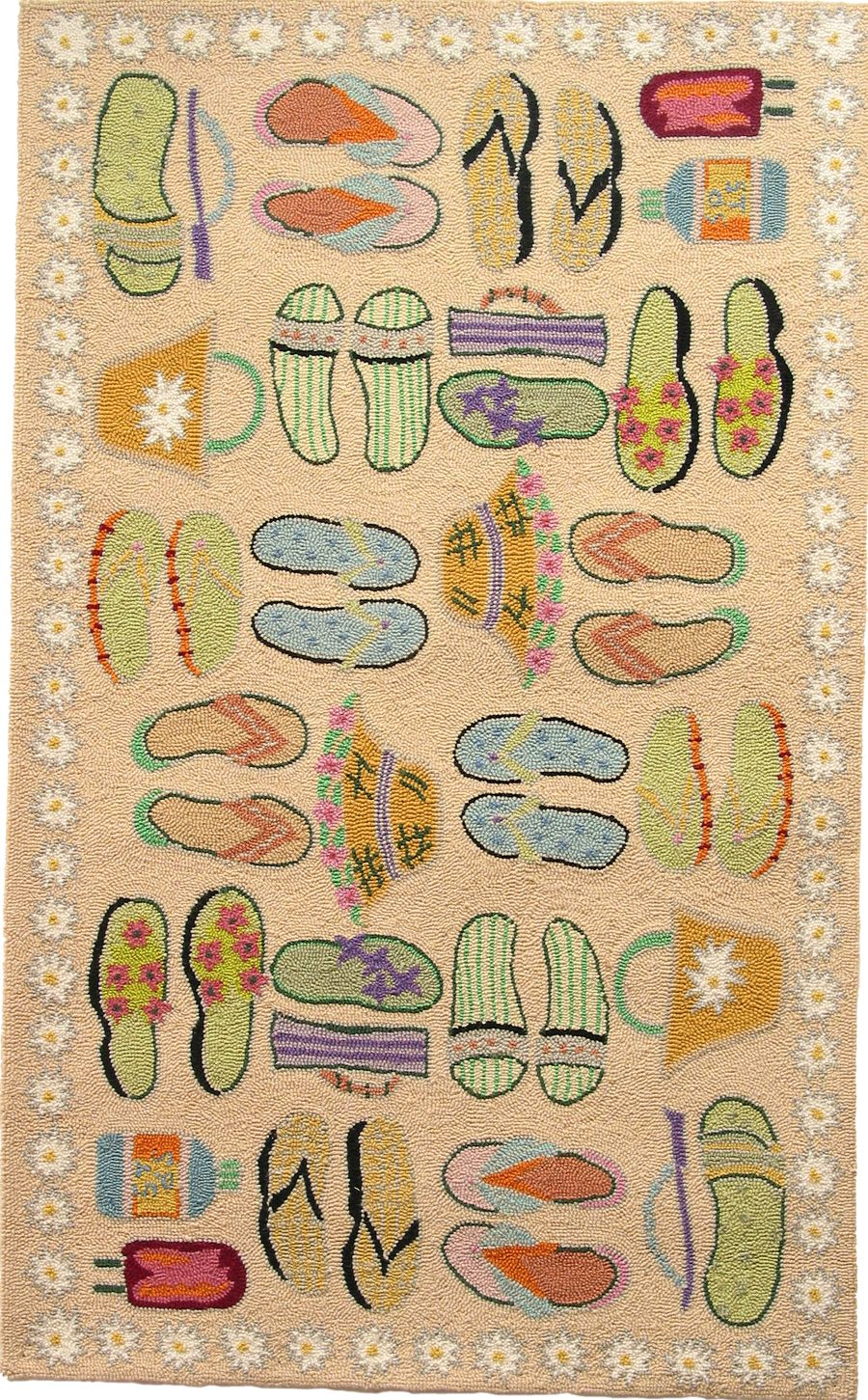 homefires beach sandles sand contemporary area rug collection