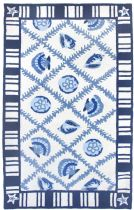 Homefires Contemporary Navy Blues Area Rug Collection