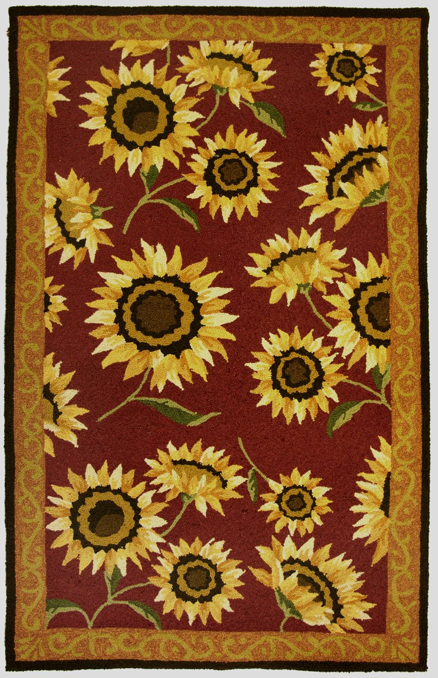 homefires provence sunflowers contemporary area rug collection