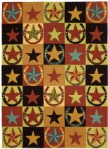 Homefires Southwestern/Lodge Western Stars & Horseshoes Area Rug Collection