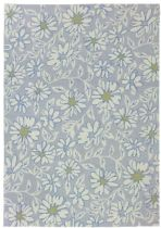 Homefires Contemporary White Daisies Area Rug Collection