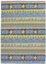 Homefires Contemporary Blue Waves Area Rug Collection
