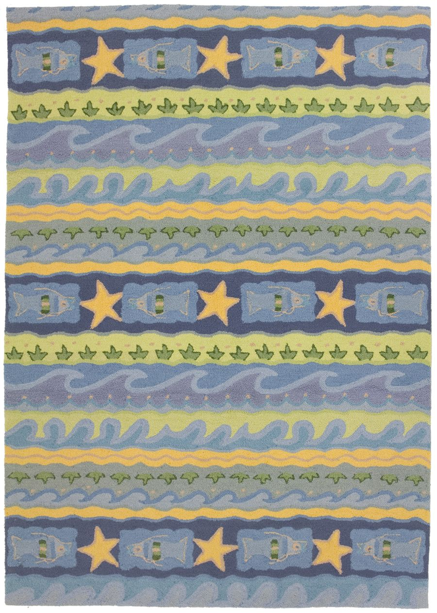 homefires blue waves contemporary area rug collection