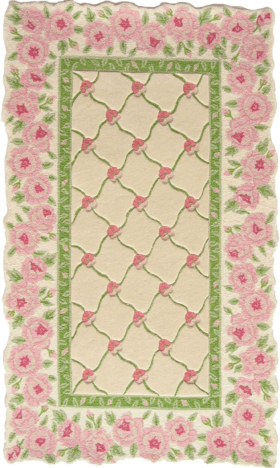 homefires rose garland contemporary area rug collection