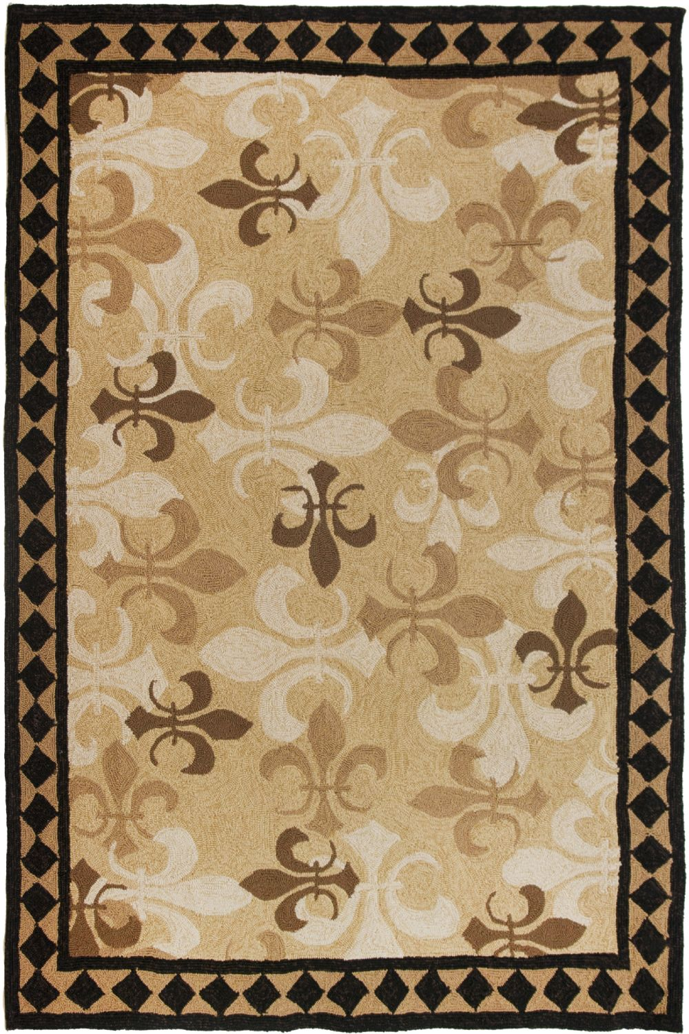 homefires fleur de lis contemporary area rug collection