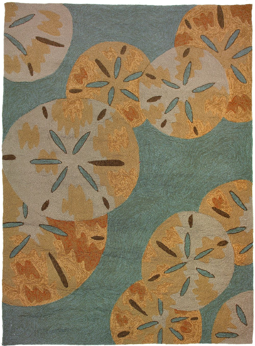 homefires sanddollars by the sea contemporary area rug collection