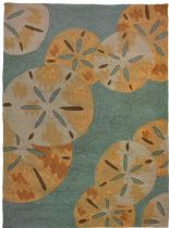 Homefires Contemporary Sand Dollars By The Sea Area Rug Collection