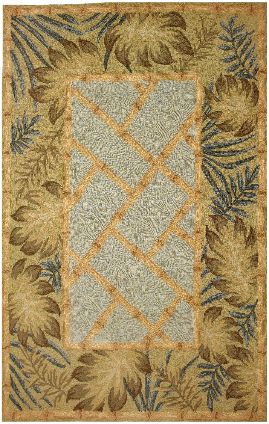 homefires tropical palms &  bamboo contemporary area rug collection