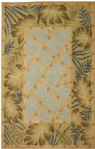Homefires Contemporary Tropical Palms &  Bamboo Area Rug Collection