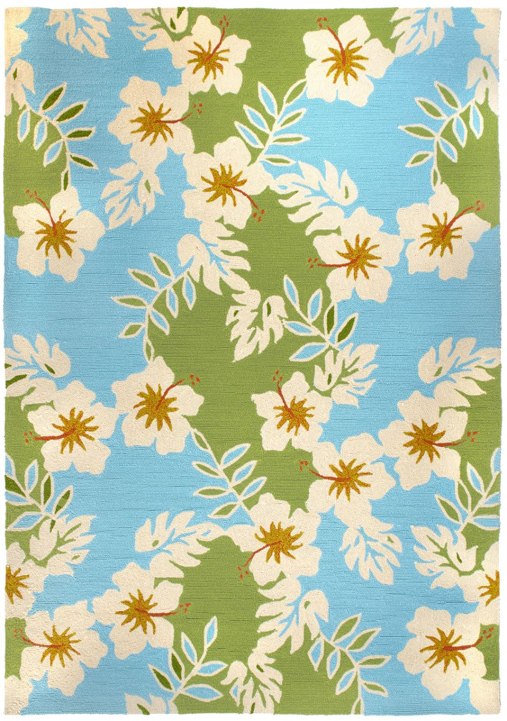 homefires surfer hibiscus contemporary area rug collection