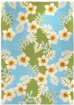 Homefires Contemporary Surfer Hibiscus Area Rug Collection