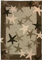 Homefires Contemporary Starfish Field Area Rug Collection