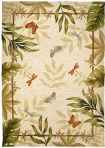Homefires Contemporary Butterflies & Dragonflies Area Rug Collection