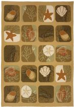 Homefires Contemporary Shell Tile Area Rug Collection