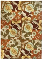 Homefires Contemporary Tropical Pineapple & Flowers Area Rug Collection