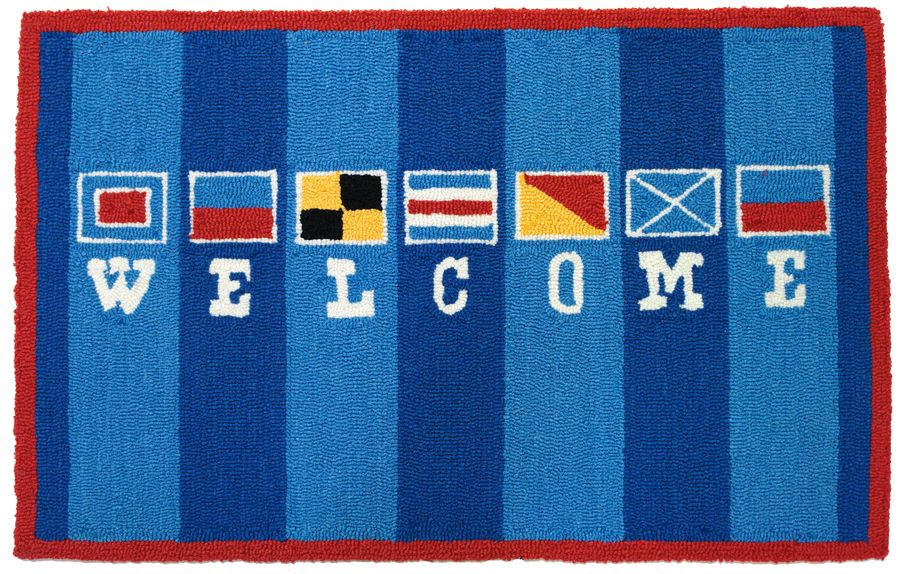 homefires welcome flags contemporary area rug collection