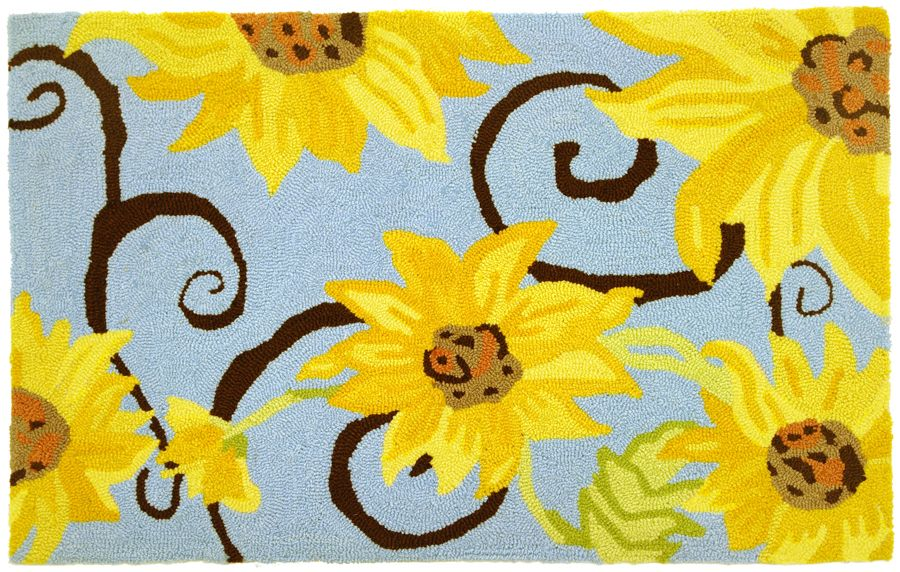 homefires sunflower swirl contemporary area rug collection