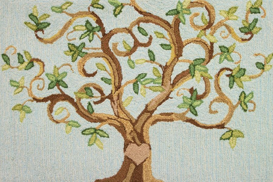 homefires love tree contemporary area rug collection