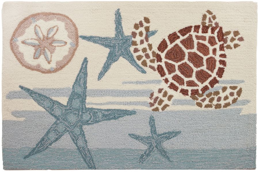 homefires coastal turtle contemporary area rug collection