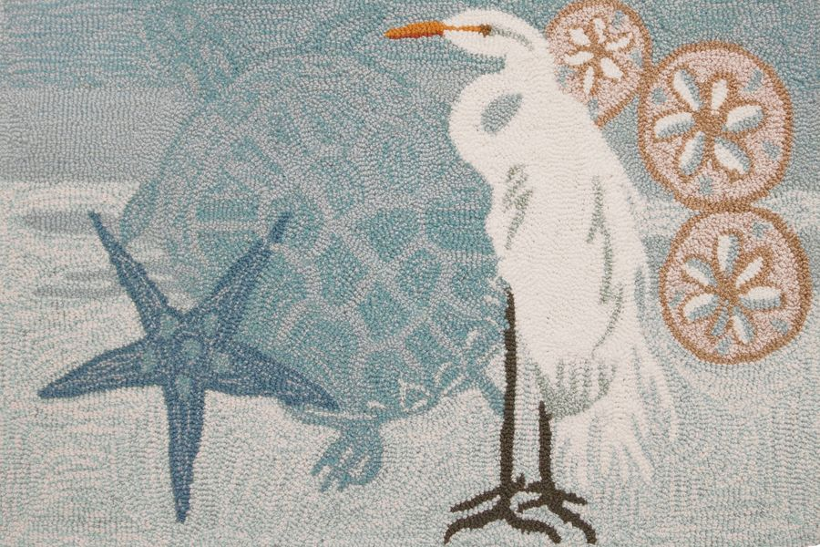 homefires coastal egret contemporary area rug collection