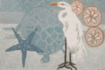 Homefires Contemporary Coastal Egret Area Rug Collection