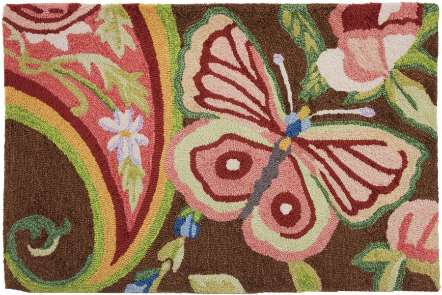homefires paisley butterfly contemporary area rug collection
