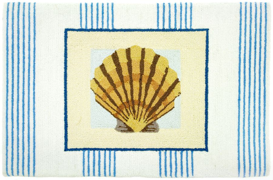 homefires pinstripe clam shell contemporary area rug collection