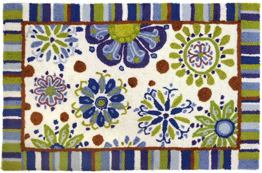 homefires fun flowers contemporary area rug collection