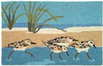 Homefires Contemporary Oceanside Sandpipers Area Rug Collection