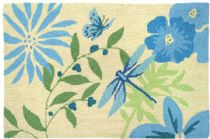 Homefires Contemporary Blue Butterfly & Dragonfly Area Rug Collection