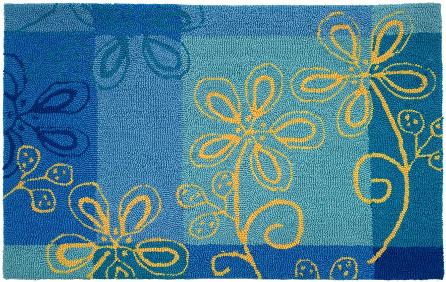homefires fargo blue contemporary area rug collection